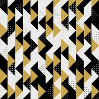 Modern triangular striped  gold black dots pattern