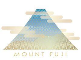 Nyårs hälsning symbol med Mt. Fuji
