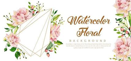 Beautiful Watercolor Floral and Prism Background