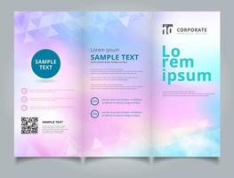 Template brochure layout design abstract white triangles