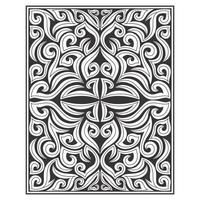 Ornate floral wood carving effect pattern  vector