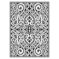 Líneas ornamentales remolinos patrón botánico