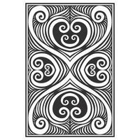 Patrón de líneas botánicas ornamentales verticales