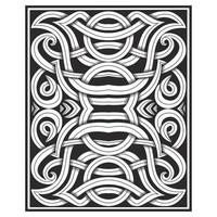 Ornate carved effect interlocking lines pattern
