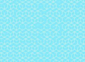 Abstract cube pattern on blue background vector