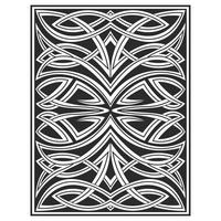 Ornate interlocking wood carved effect lines pattern vector