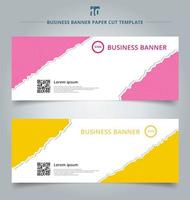 Set of paper rip web banners
