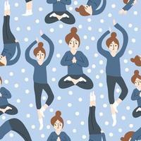 padrão de ioga menina
