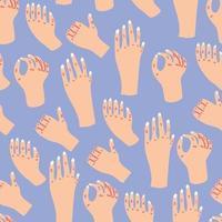 Cute Hands Pattern vector