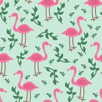 Flamingo Tropical Pattern
