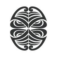 Abstrakte botanische Linien Form