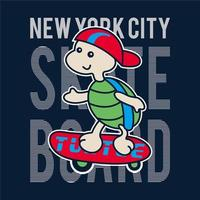 New York Turtle Skater Design