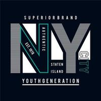 New York City Superior Brand Typography Graphic Art