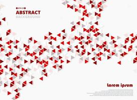 Abstract red triangle geometrical pattern  vector