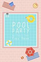 Pool Party Invite Card