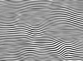 Abstract of black stripe wavy line pattern vector