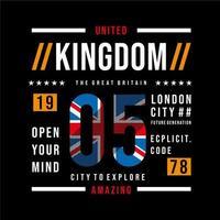 coole Grafikdesign-Typografie Vereinigten Königreichs