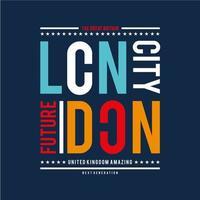 Futuristisches London-städtisches Typografie-Design