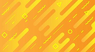 Fundo da linha dinâmica laranja com formas redondas vetor