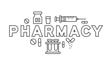 Pharmacy Fine Line Typography