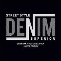Diseño de tipografía Denim estilo callejero