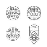 Set di etichette vintage farm