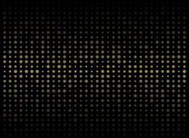 Abstract gold dots digital grid pattern