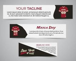 Set of American football banner template