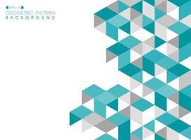 Patrón de mosaico triangular abstracto azul turquesa y gris