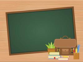 Tableau de craie vierge affiche de retour à l'école
