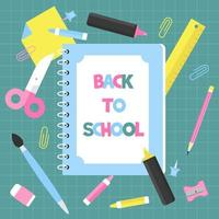 Notebook Back to school poster