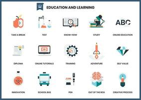 Set of education and learning icons