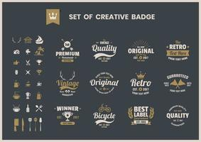 Set of creative retro business badges