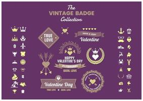 Set of vintage business badges and icons