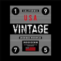 Conception de typographie grunge vintage USA