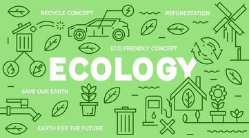 Banner di eco-friendly doodle