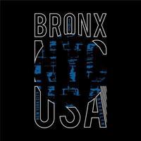 conception de typographie fanée bronx nyc usa