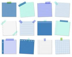 Blue sticky notes