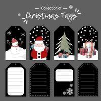 Christmas tag card set vector