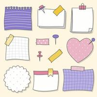 Girly sticky notes set