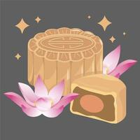 Mid-autumn Festival with flowers