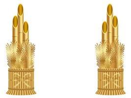 Set of gold Kadomatsu isolated on a white background.