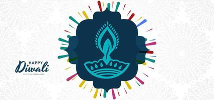 Modern diwali diya festivalbakgrundsdesign