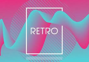 Retro fluid abstract design background vector