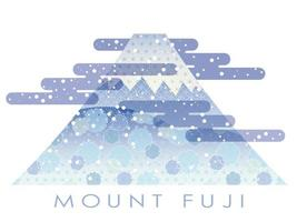 Mt. Fuji i vintersäsongen dekorerad