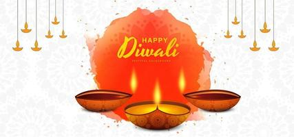 Design de fundo religioso feliz diwali