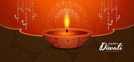 Lyckligt traditionellt indiskt festivalkort för Diwali