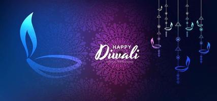 Konstnärlig bakgrund för glad diwali festivalvektor
