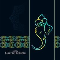 Colorful dark Ganesh Chaturthi background