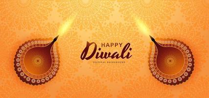 Fondo del festival de Diwali con lámparas